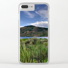 Blue Mesa Reservoir Clear iPhone Case
