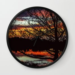 Halibut Point Sunset Wall Clock