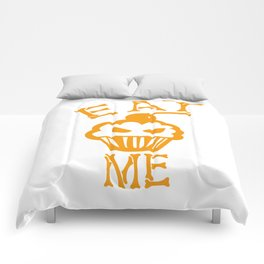 Eat me yellow version Comforters
