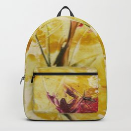 Abstract Red Poppies From Original Encaustic Art Backpack