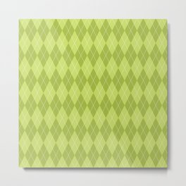 Green Plaid Metal Print