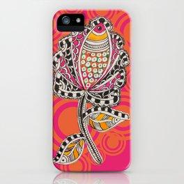 Madhubani - Fish Flower 1 iPhone Case