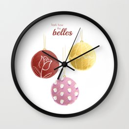 Hark How the Belles Wall Clock