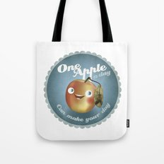 One Apple A Day Tote Bag