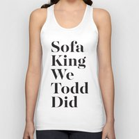 sofa Tank Tops featuring Sofa King by Black Sole