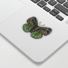 Green steampunk butterfly Sticker