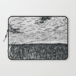 Birch, black & white Laptop Sleeve