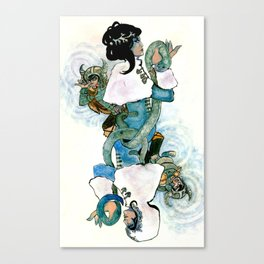 Skadi Queen of Spades Canvas Print