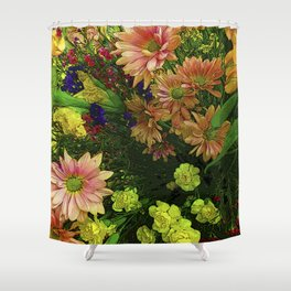 POINT CLEAR FLOWERS Shower Curtain