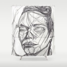 Donna Enigmatica #5; Vivien Solari #1 - Artist: Leon 47 ( Leon XLVII ) Shower Curtain