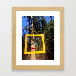 Nature Faces - Incense Cedar  Framed Art Print