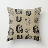 shoe Throw Pillows featuring Shoe Prints by Zen and Chic