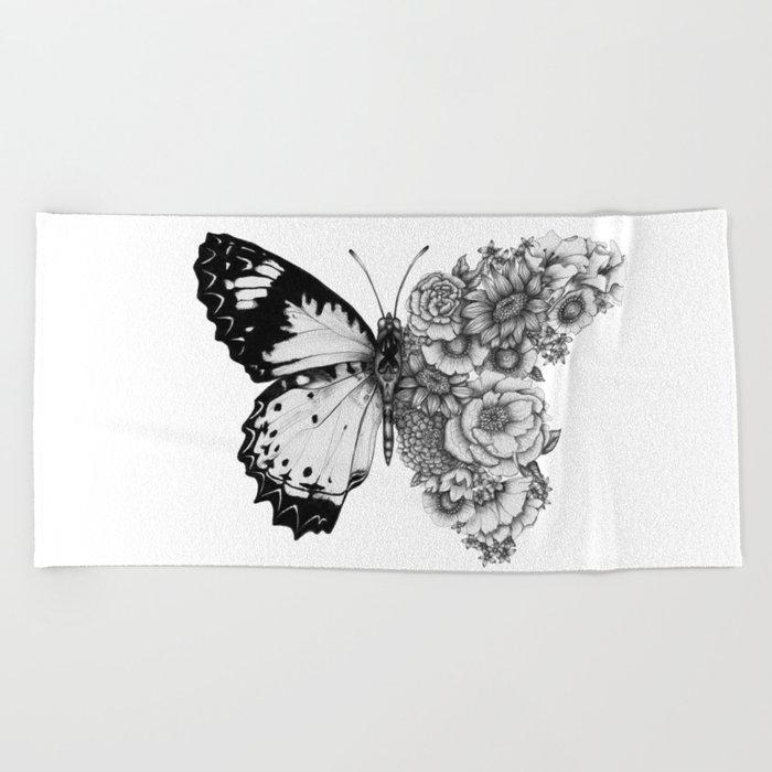 Butterfly in Bloom Beach Towel