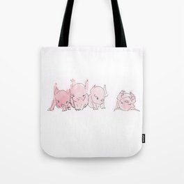 Sleepy Piglets Tote Bag