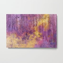 Acrylic Pine Forest Metal Print
