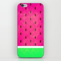 watermelon iPhone & iPod Skins featuring Watermelon by M Studio