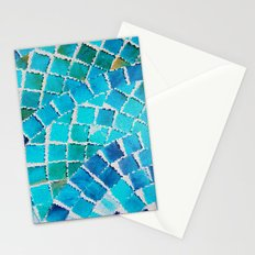 in love with aqua Stationery Cards