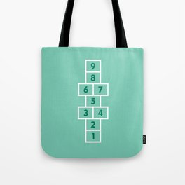 Hopscotch Mint Tote Bag