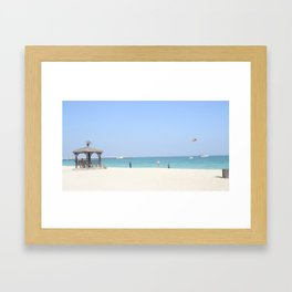 Beautiful Beach of Kish Island Framed Art Print