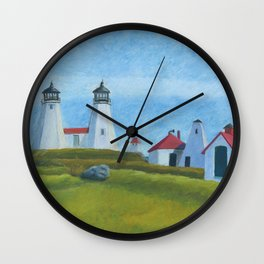 Plymouth Lighthouse Wall Clock