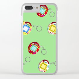 Tamagotchi Connection V2-Green Clear iPhone Case