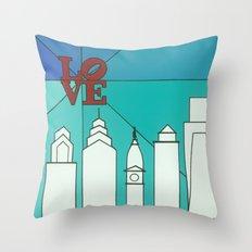 LOVE shine Throw Pillow