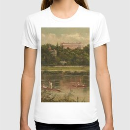 The Royal Star and Garter Home - Richmond on the Thames River landscape by James Isaiah Lewis T-shirt