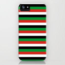 libya Sudan Syria United Arab Emirates Western Sahara flag stripes iPhone Case