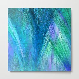 Bluish ▵triangulated▵ abstraction  Metal Print