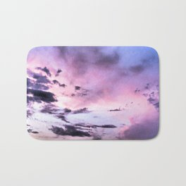 fly up to the blue pink sky Bath Mat