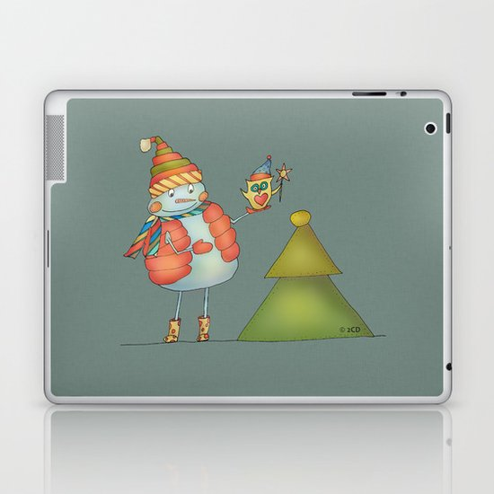 Friends keep warm - greyish Laptop & iPad Skin