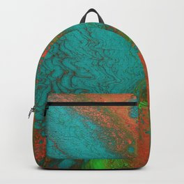 Rusty Jade: Acrylic Pour Painting Backpack