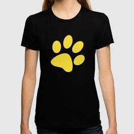 Tiny Paw Prints Pattern - Bright Yellow & White T-shirt
