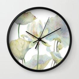 Lotus and Goldfish Watercolor  Wall Clock