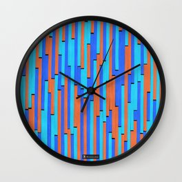Paper Stripes - Color variation 2 Wall Clock