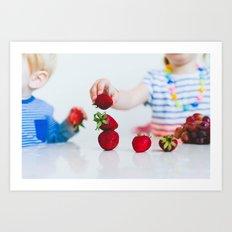 Strawberry Stack Art Print