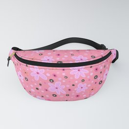 Pinky pink. Small pink flowers  Fanny Pack