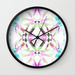 Kaleidoscopic .01 - Fractal Festival Style Wall Clock
