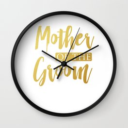 Weding Design Mother Groom Women Wall Clock