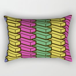 colorful abstract cube pattern Rectangular Pillow