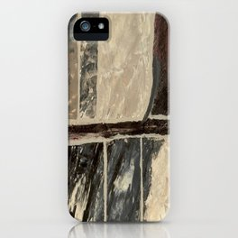 Textured Marble Popular Painterly Abstract Pattern - Black White Gray Red iPhone Case