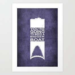 Movie Poster - Jaws Art Print