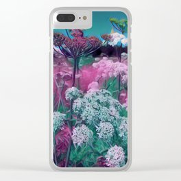 Summer wild flowers in a field Clear iPhone Case