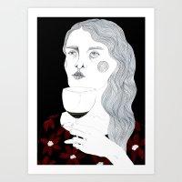 wine Art Prints featuring Wine by Hedda Hultman