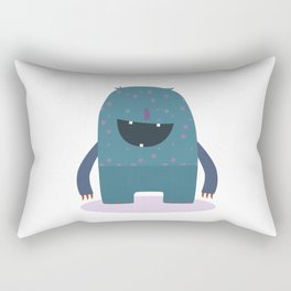 BLUE MONSTER Rectangular Pillow