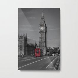 Big Ben and London Bus Metal Print
