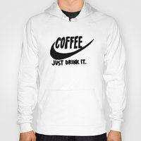 coffee Hoodies featuring Coffee by Hand Drawn Type