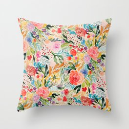 Flower Joy Throw Pillow