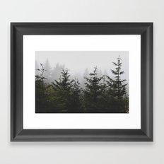 Trees + Fog Framed Art Print