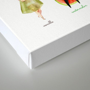 Girly VeggieFruit  Canvas Print